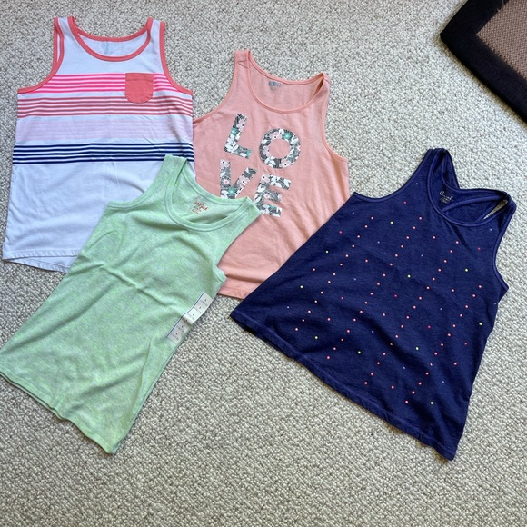 Bundle of girls tank tops size 10/12 one is NWT